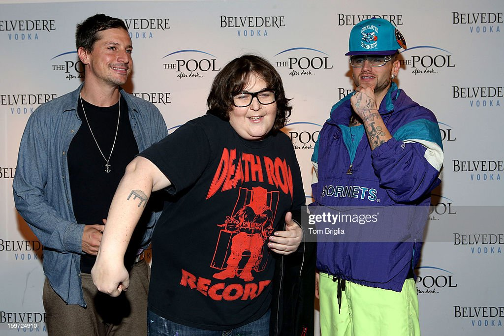 The Hip Hop group Three Loco (L to R) Simon Rex (Dirt Nasty) (C) Andy Milonakis and Jody Christian (Riff Raff) performed at The Pool After Dark, Harrah's Antic City on Friday January 18, 2013