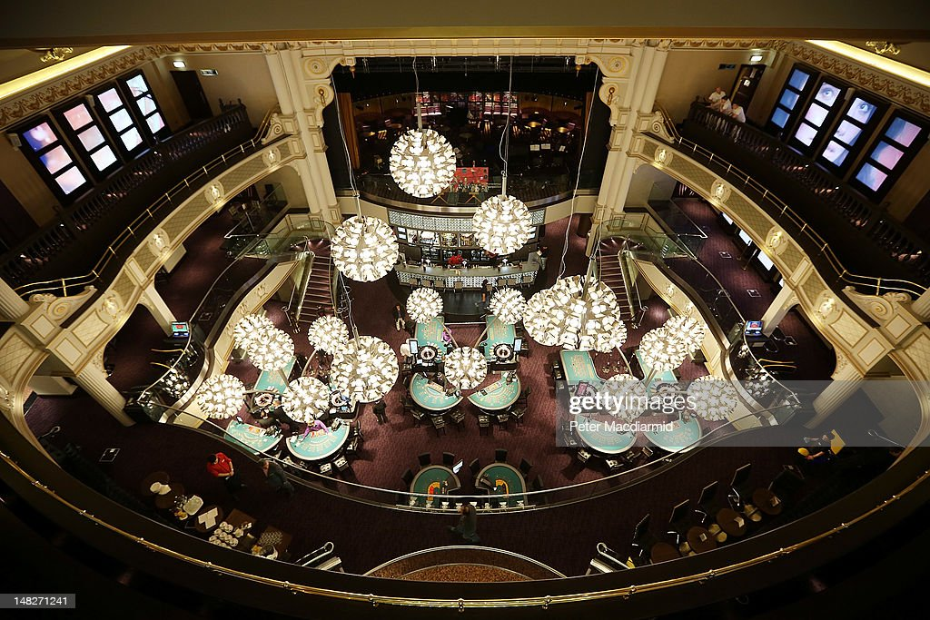 The Hippodrome Casino near Leicester Square on July 13, 2012 in London, England. The new casino has five floors and 90,000 square feet of slot machines, blackjack and roulette tables.
