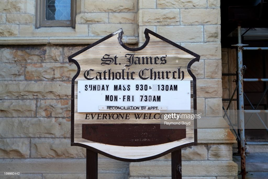 The Historic, 132 year old St. James Catholic Church, faces the wrecking ball in Chicago, Illinois on JANAURY