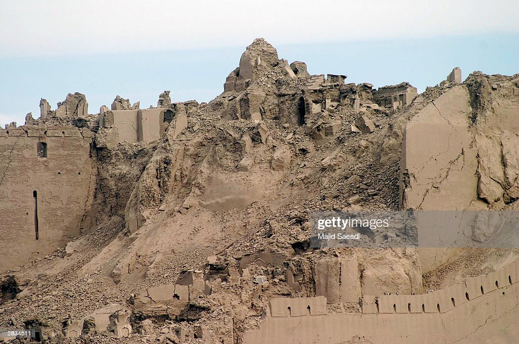 The historic 2000 year old citadel lies in ruin after an earthquake December 28 2003 in Bam Iran An earthquake registering 65 on the Richter scale...