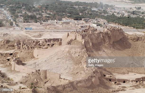 The historic citadel lays in ruins on December 27 2003 in Bam Iran An earthquake registering 65 on the Richter scale hit the southeast Iranian town...