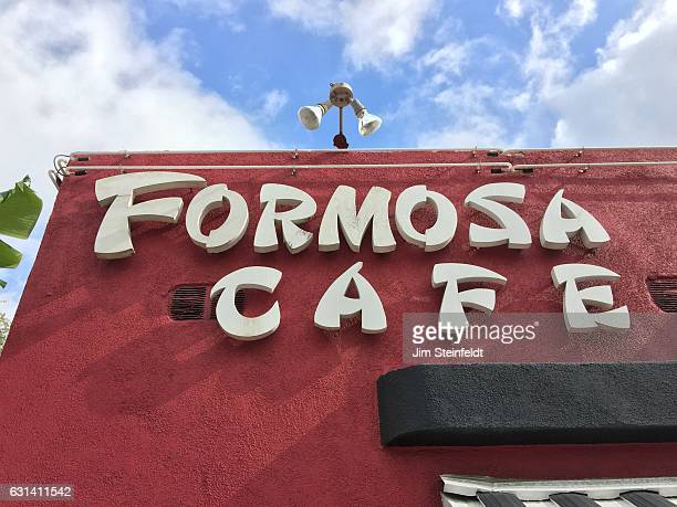 The hIstoric Formosa Cafe at the corner of Santa Monica Blvd and Formosa Ave in Los Angeles California on January 9 2017