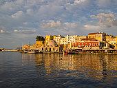The historic harbor of Chania (Hania), Crete
