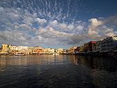The historic harbor of Chania (Hania) Crete