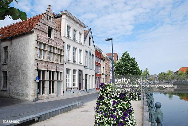 The historic houses in Mechelen