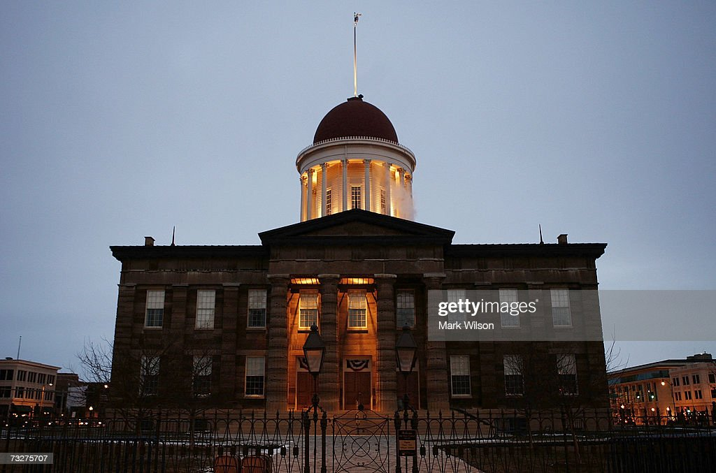 The historic Illinois State Capitol building is seen February 9 2007 in Springfield Illinois Sen Barack Obama has scheduled a rally February 10 at...
