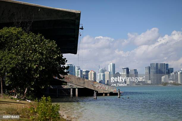 The historic Miami Marine Stadium sits a long side the bay as city officials announced a plan to bring the Miami International Boat Show to the venue...