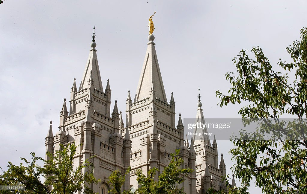 The historic Mormon Salt Lake Temple sits on Temple Square where the 185th Semiannual General Conference of the Mormon Church is being held on...