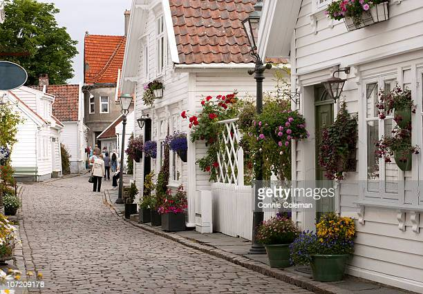 The historic old section of Stavanger, Norway