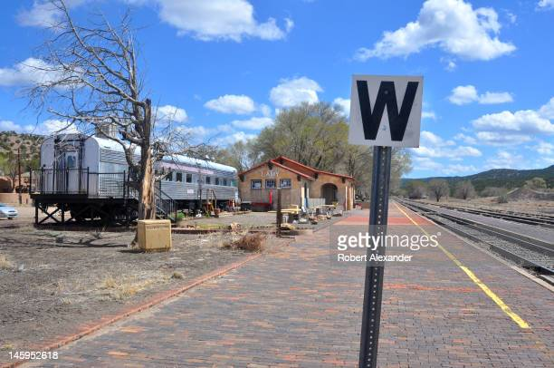The historic train station in Lamy New Mexico serves as a daily stop for Amtrak's Southwest Chief which runs between Los Angeles and Chicago...