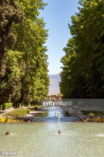 The historical Shahzadeh Garden known as Prince's Garden in Mahan Iran The original garden was built around 1850's It is a UNESCO World Heritage Site