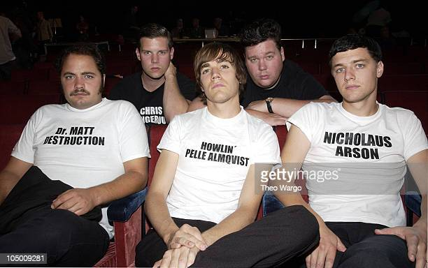 The Hives L to R Front Row Matt Destruction Pelle Almqvist Nicholaus Arson Back row Chris Dangerous and Vigilante Carlstroem