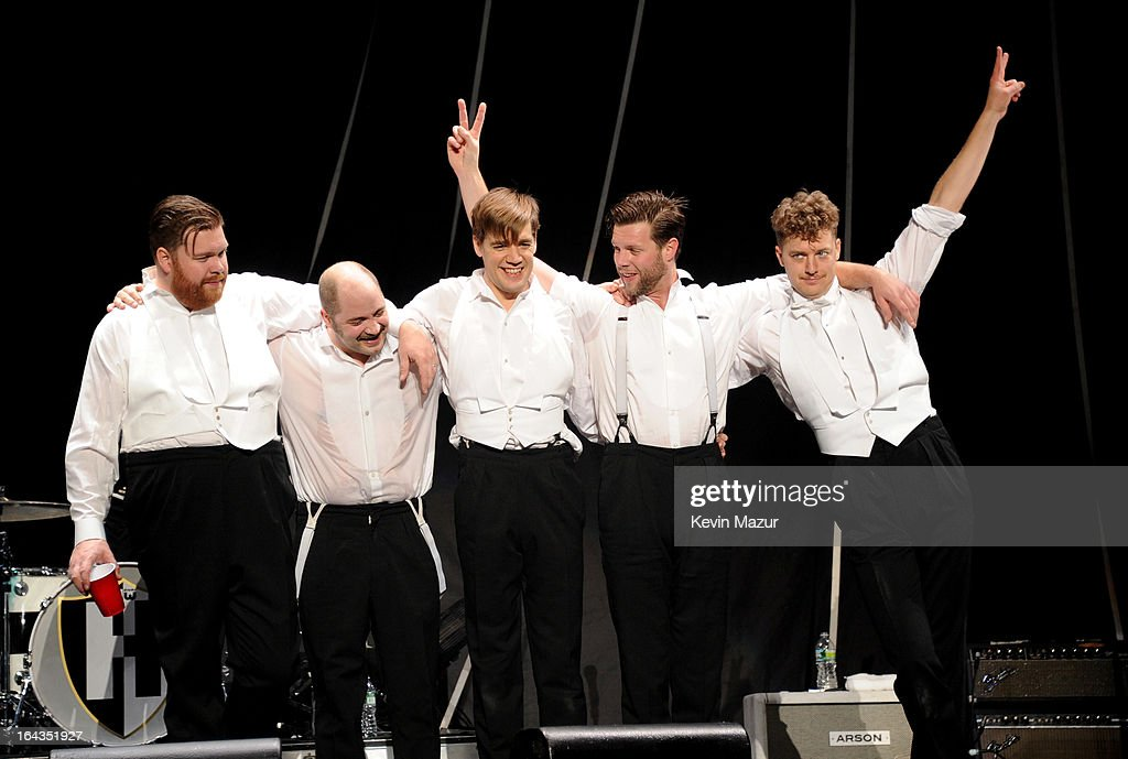 <a gi-track='captionPersonalityLinkClicked' href=/galleries/search?phrase=The+Hives&family=editorial&specificpeople=2483488 ng-click='$event.stopPropagation()'>The Hives</a> open for P!nk during 'The Truth About Love' tour at Madison Square Garden on March 22, 2013 in New York City.