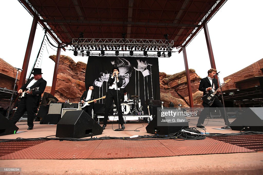 The Hives perform at Red Rocks Amphitheatre as part of 93.3's Big Gig on September 16, 2012 in Morrison, Colorado.