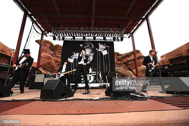 The Hives perform at Red Rocks Amphitheatre as part of 933's Big Gig on September 16 2012 in Morrison Colorado