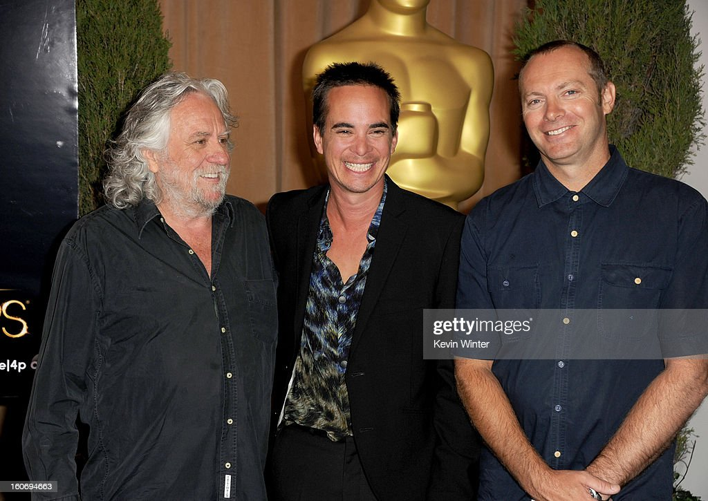 'The Hobbit: An Unexpected Journey' production designers Dan Hennah, Ra Vincent and Simon Bright attend the 85th Academy Awards Nominations Luncheon at The Beverly Hilton Hotel on February 4, 2013 in Beverly Hills, California.