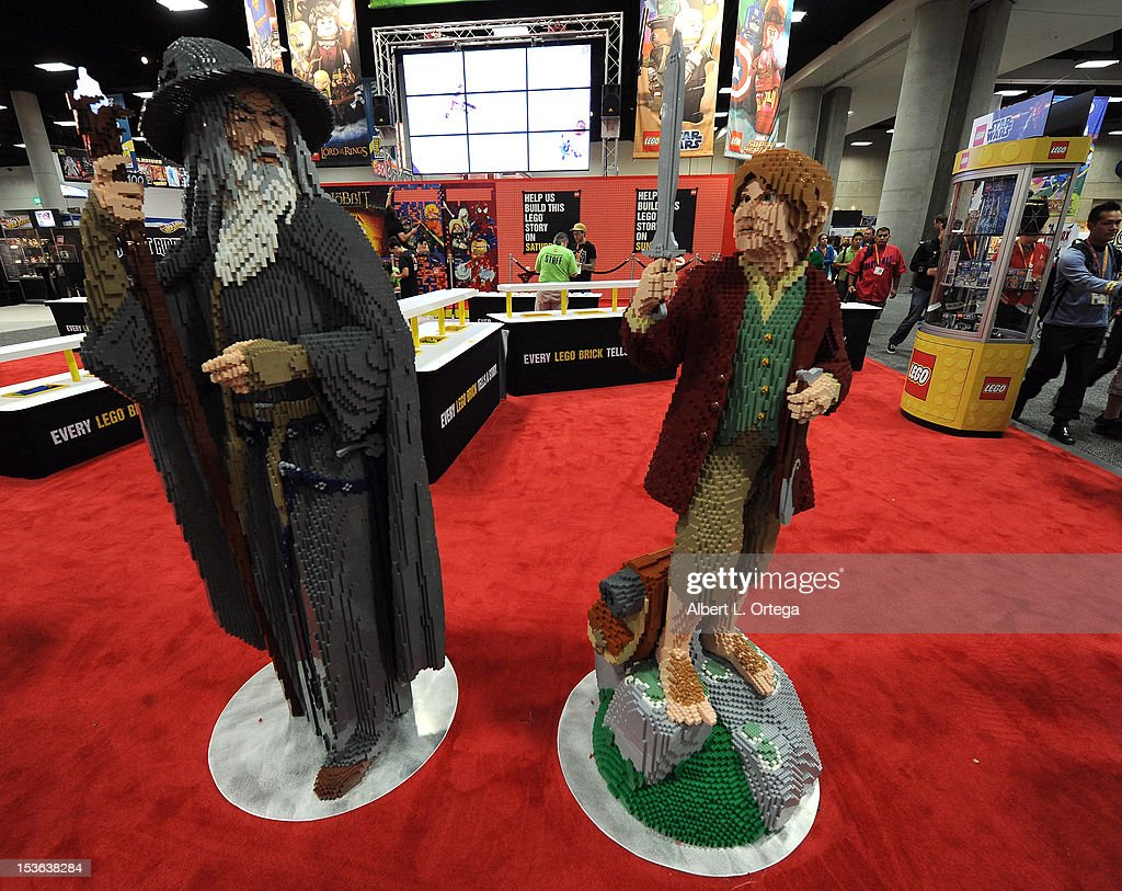 The Hobbit display inside the Lego booth during day 3 of Comic-Con International 2012 held at San Diego Convention Center on July 14, 2012 in San Diego, California.
