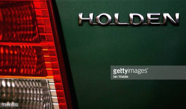 The Holden badge is displayed on a late model car March 5 2007 in Sydney Australia The carmaker owned by General Motors has announced that more than...