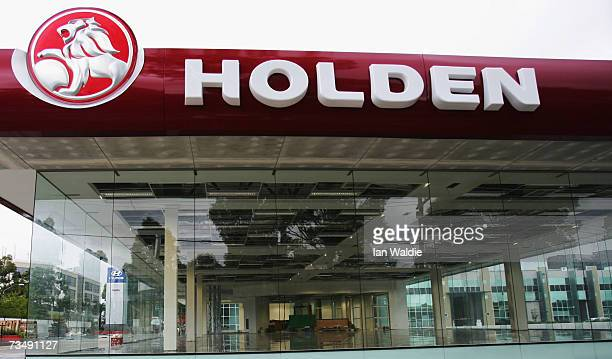 The Holden logo is displayed above an empty showroom at a dealership March 5 2007 in Sydney Australia The carmaker owned by General Motors has...