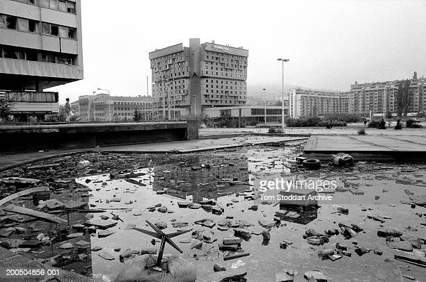 Bosnia Sarajevo May 1995 The Holiday Inn hotel which became home to the media during the siege of Sarajevo During the 47 months between the spring of...