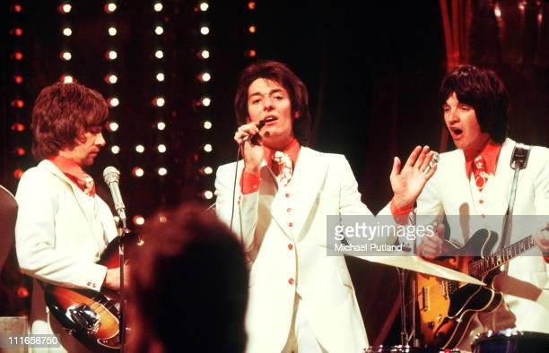 The Hollies perform on a TV show circa 1970 LR Tony Hicks Allan Clarke Terry Sylvester