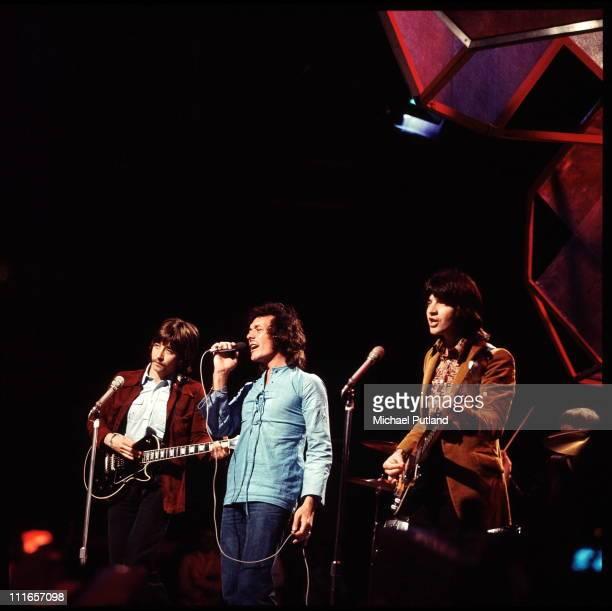 The Hollies perform on a TV show circa 1971 LR Tony Hicks Allan Clarke Terry Sylvester