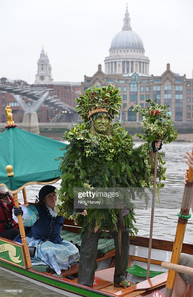 The Holly Man attends the Lions Part's 19th Twelfth Night celebrations at Shakespeare's Globe on January 6, 2013 in London, England.
