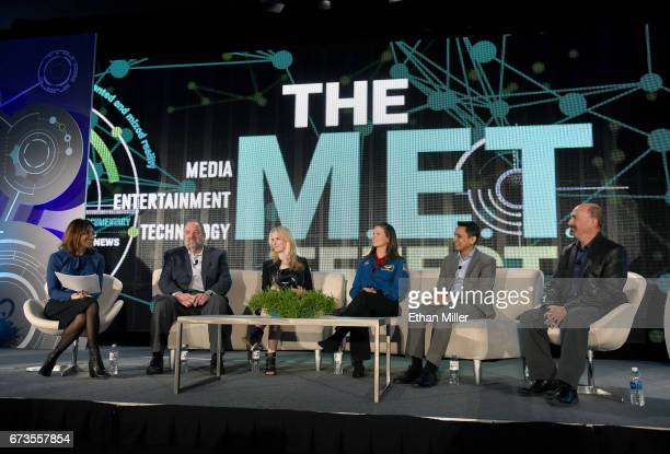 The Hollywood Reporter Technology Editor Carolyn Giardina moderates the panel 'Reaching for the Stars Connecting to the Future with NASA and...