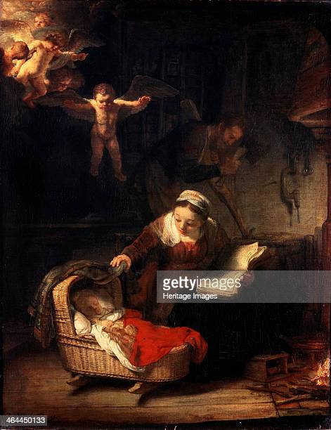 'The Holy Family' 1645 Rembrandt van Rhijn Found in the collection of the State Hermitage St Petersburg