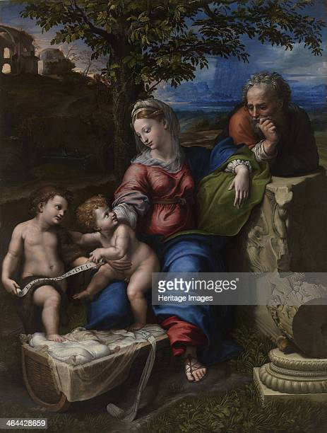 The Holy Family Under an Oak Tree ca 1518 Found in the collection of the Museo del Prado Madrid