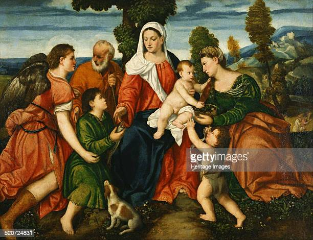 The Holy Family with Tobias and the Angel Saint Dorothy John the Baptist and the Miracle of the Corn Found in the collection of National Museum of...