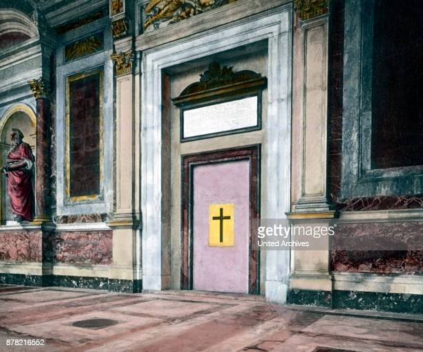 The Holy Gate at Basilica of St Paul Outside The Walls at Rome Italy 1920s