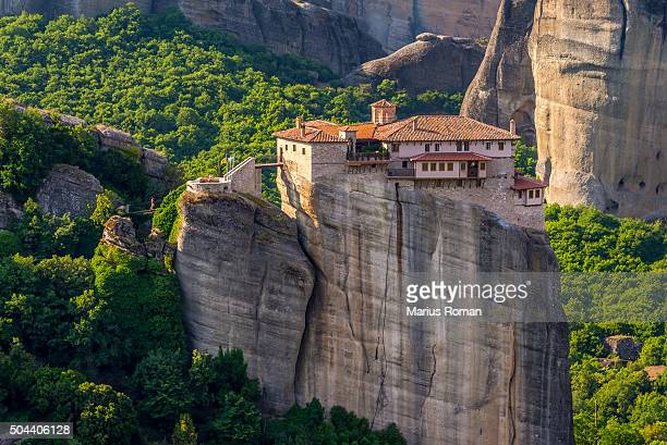 The Holy Monastery of Roussanou at Meteora, Thessaly, Greece.