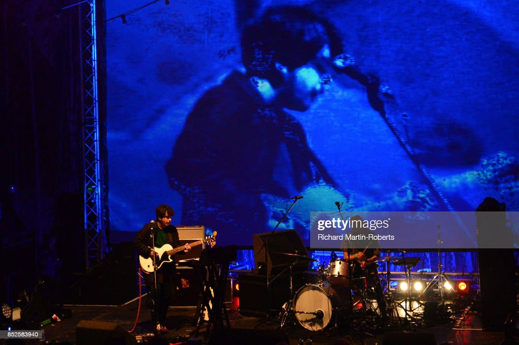 The Holydrug Couple perform on stage during the Liverpool International Festival of Psychedelia on September 23, 2017 in Liverpool, England.