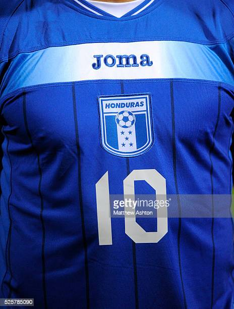 The home blue shirt of Julio Cesar de Leon of Honduras