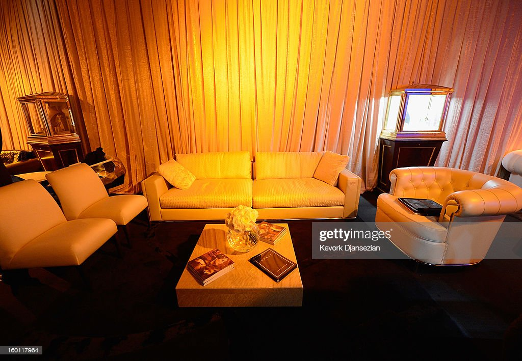 CASA, the home design collection for the international luxury brand FENDI, dress the 19th Annual Screen Actors Guild Awards Green Room, at The Shrine Auditorium on January 26, 2013 in Los Angeles, California.