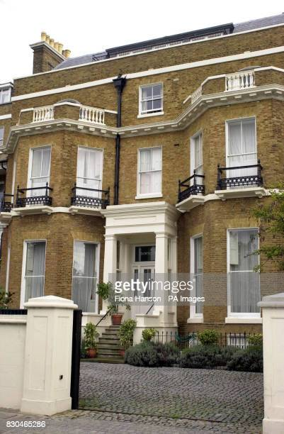 The home of actress and model Jerry Hall in Richmond Hill south west London which was burgled while she was on stage in the West End in the play The...