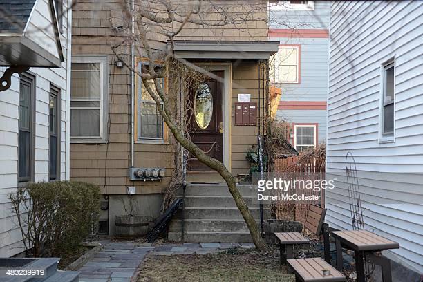 The home of the alleged Boston Marathon bombers Tamerlan and Dzhokhar Tsarnaev is seen on Norfolk Street April 7 2014 in Cambridge Massachusetts The...