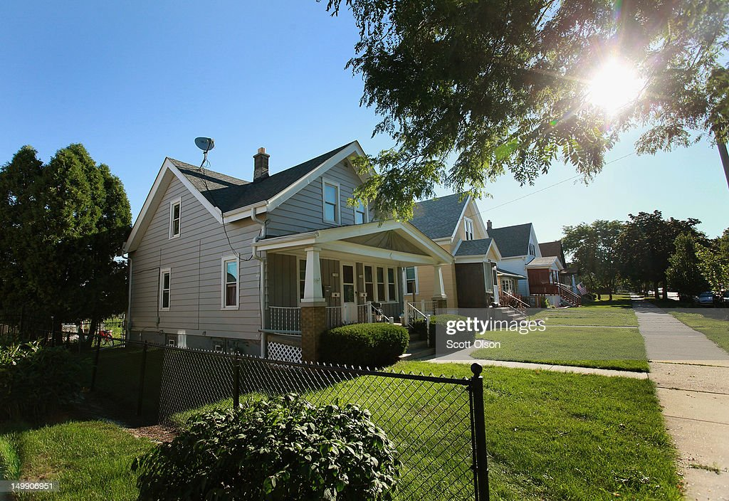 The home of Wade Michael Page sits in a suburban Milwaukee neighborhood August 6, 2012 in Cudahy, Wisconsin. Page is reported to have opened fire at the Sikh Temple of Wisconsin killing six people before being killed by police during a shootout.