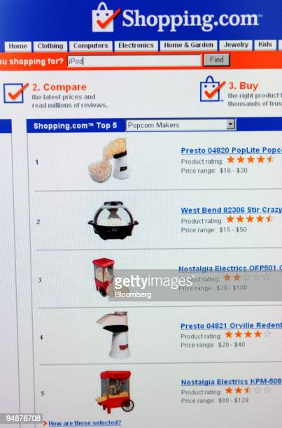 The homepage of Shoppingcom is seen in Frankfurt Germany Thursday June 2 2005 EBay Inc the world's largest Internet auctioneer agreed to buy...