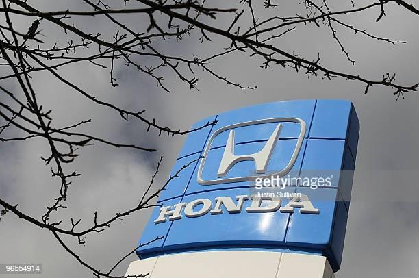 The Honda logo is displayed at Honda of El Cerrito February 10 2010 in El Cerrito California Honda Motor Corp announced today that it will recall an...