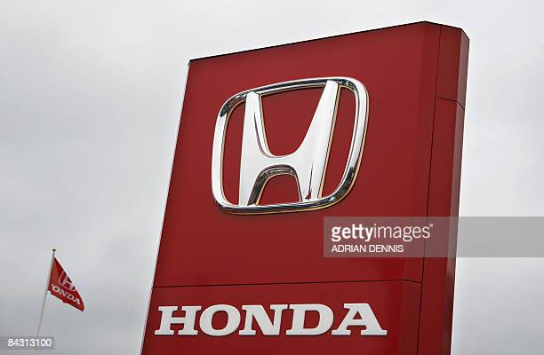 The Honda logo is pictured outside a car showroom near Woking in southeast England on January 16 2009 Japanese auto giant Honda said Friday it will...