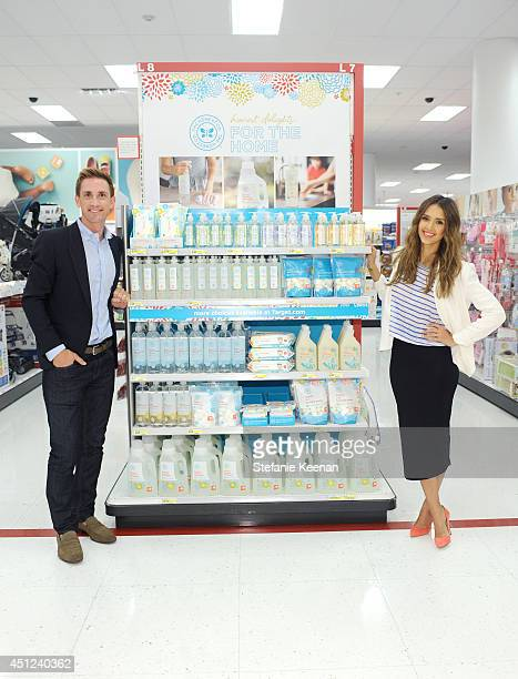 The Honest Company Founder and Chief Product Officer Christopher Gavigan and The Honest Company Founder Jessica Alba attend the launch of The Honest...