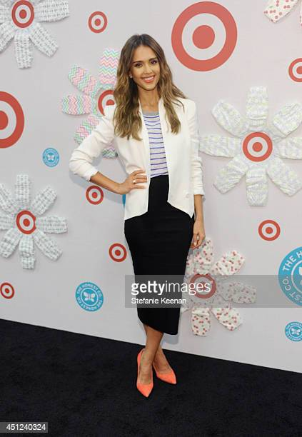 The Honest Company Founder Jessica Alba attends the launch of The Honest Company at Target at Los Angeles Westwood Target on June 25 2014 in Westwood...