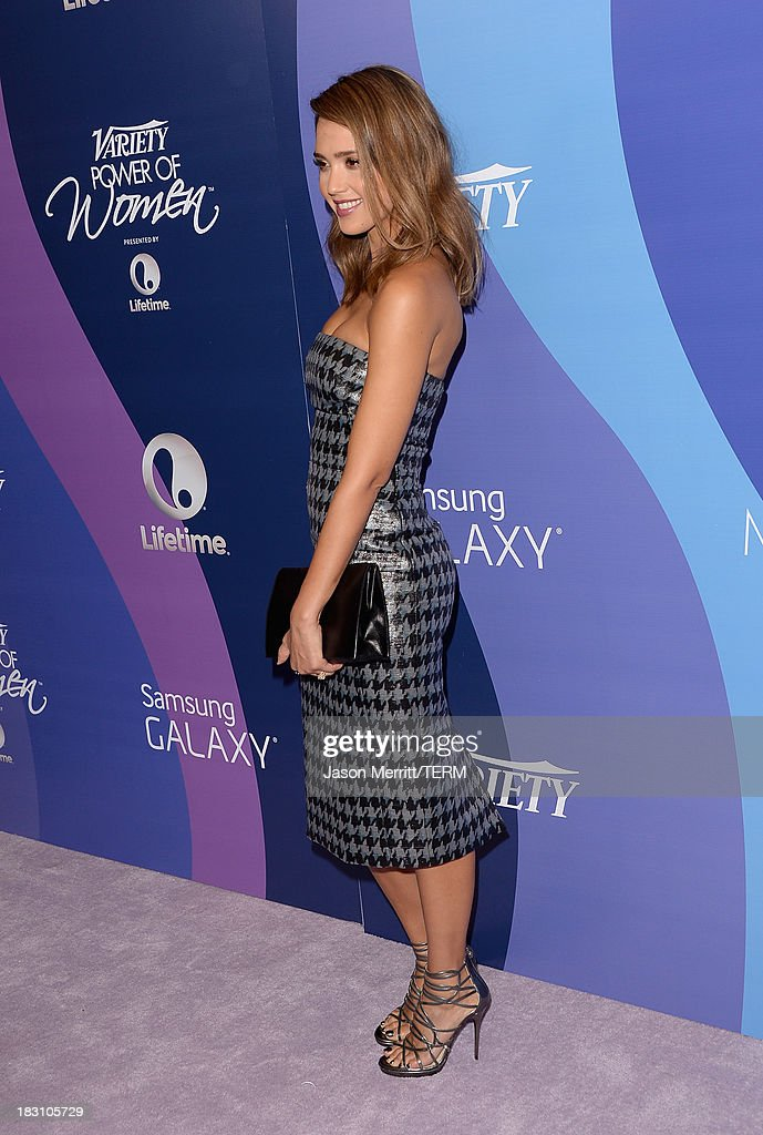 The Honest Company's Jessica Alba arrives at Variety's 5th Annual Power of Women event presented by Lifetime at the Beverly Wilshire Four Seasons Hotel on October 4, 2013 in Beverly Hills, California.