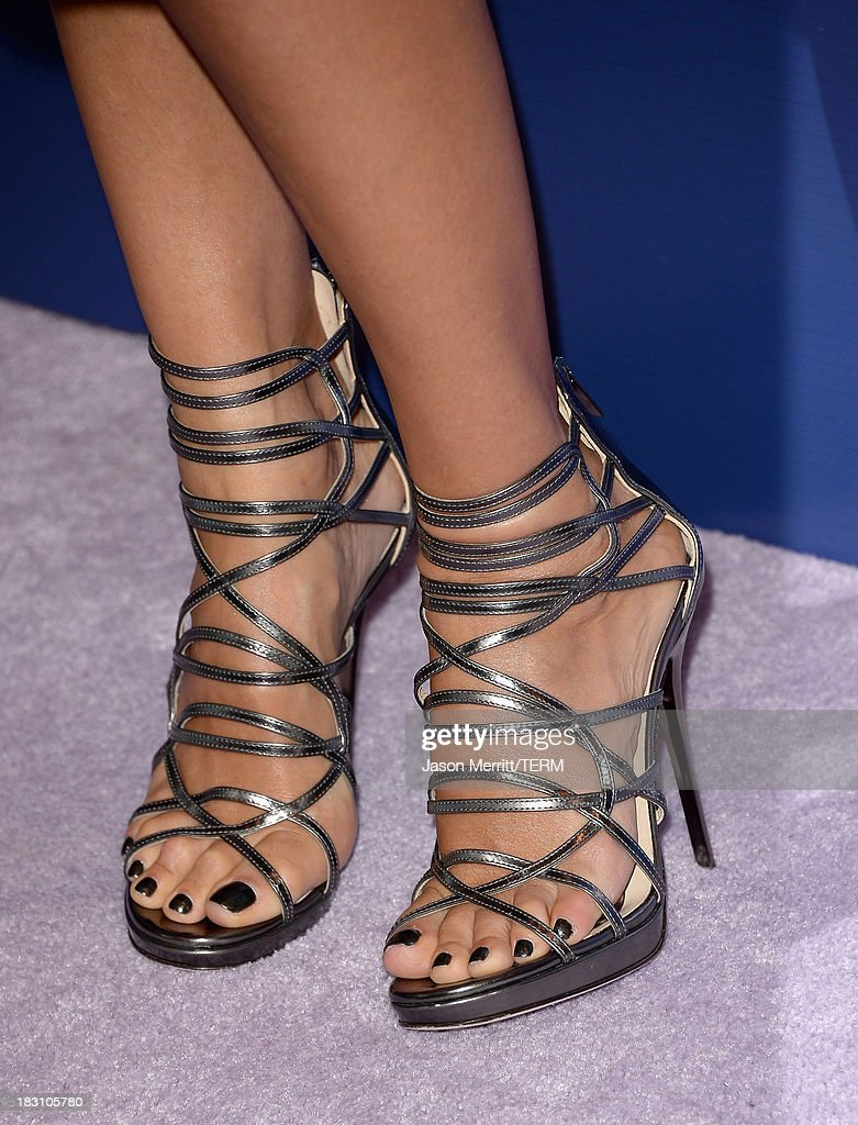 The Honest Company's Jessica Alba (shoe detail) arrives at Variety's 5th Annual Power of Women event presented by Lifetime at the Beverly Wilshire Four Seasons Hotel on October 4, 2013 in Beverly Hills, California.