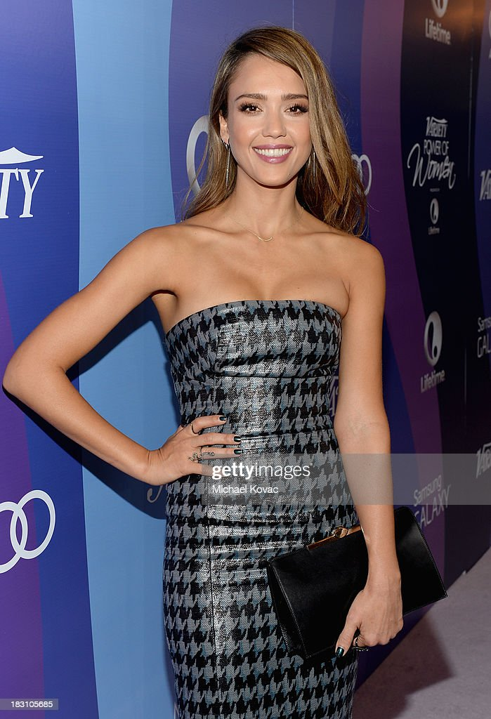 The Honest Company's <a gi-track='captionPersonalityLinkClicked' href=/galleries/search?phrase=Jessica+Alba&family=editorial&specificpeople=201811 ng-click='$event.stopPropagation()'>Jessica Alba</a> attends Variety's 5th Annual Power of Women event presented by Lifetime at the Beverly Wilshire Four Seasons Hotel on October 4, 2013 in Beverly Hills, California.