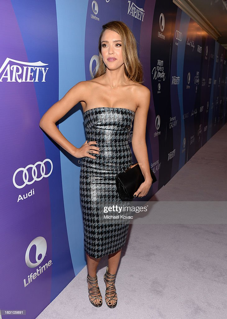 The Honest Company's Jessica Alba attends Variety's 5th Annual Power of Women event presented by Lifetime at the Beverly Wilshire Four Seasons Hotel on October 4, 2013 in Beverly Hills, California.