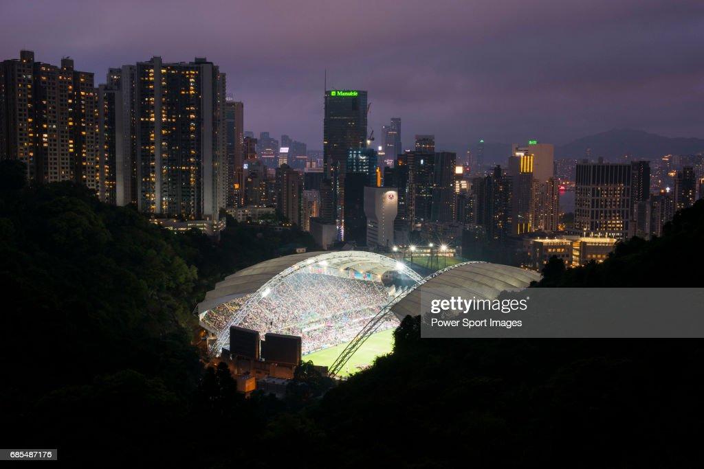 The Hong Kong Stadium is seen before the Closing Ceremony of the HSBC Hong Kong Rugby Sevens 2017 on 09 April 2017, in , Hong Kong, Hong Kong.