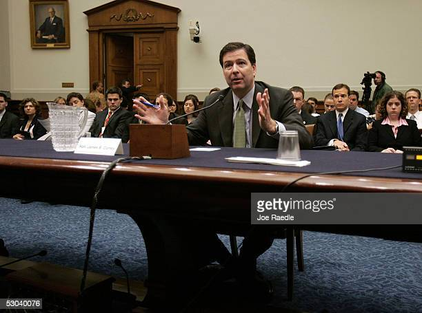 The Honorable James Comey Deputy Attorney General US Department of Justice testifies during the House Judiciary Committee hearing concerning...